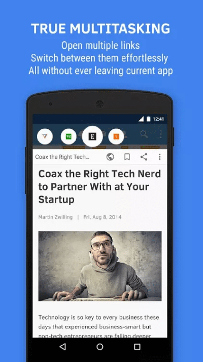 floating browser android