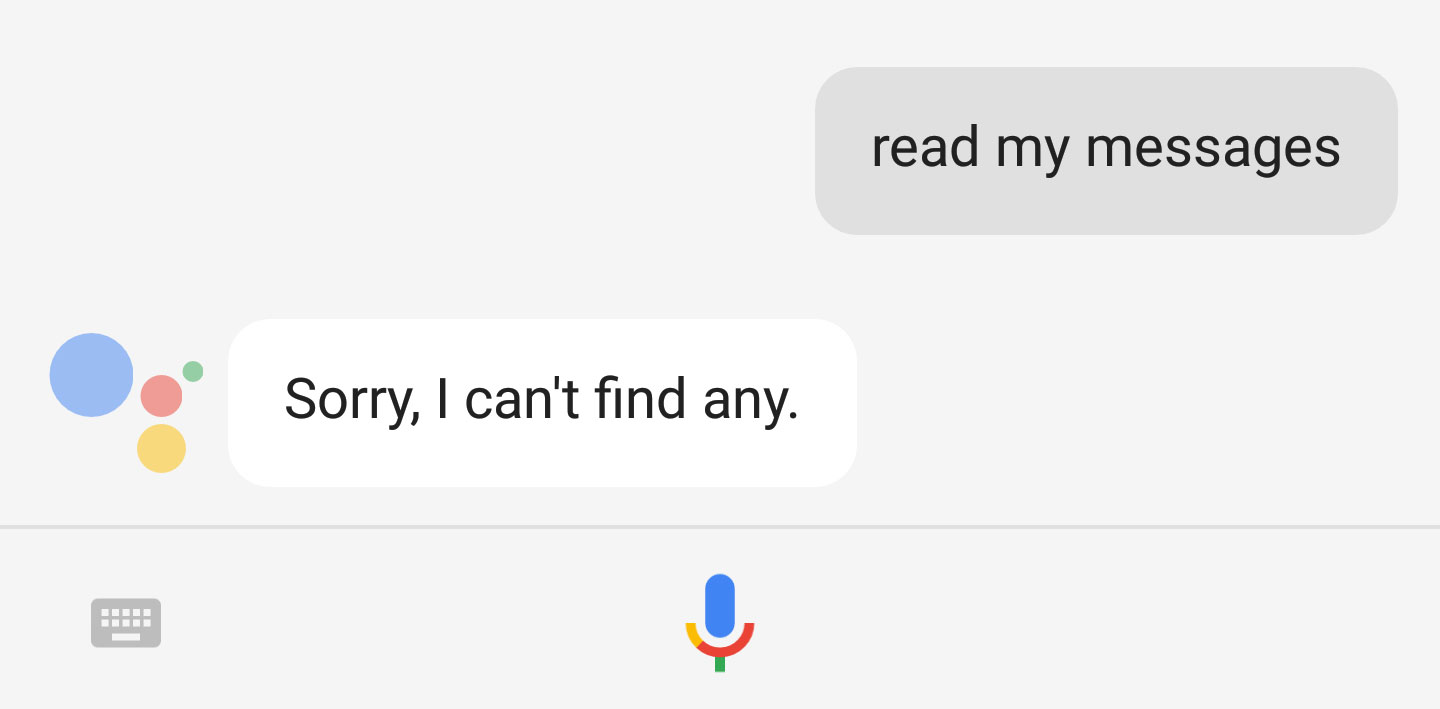Messages Read Out Loud by Assistant