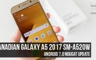 Android Nougat Firmware on Canadian Galaxy A5 2017 SM-A520W