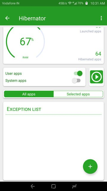 Automatically Hibernate Apps For Better Battery Life With Hibernator