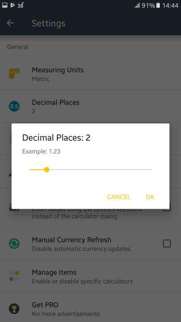 calculator decimal