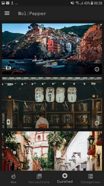 wallpaper preview screen
