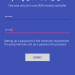 memote setup password