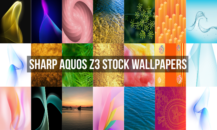 Sharp Aquos Z3 Stock Wallpapers