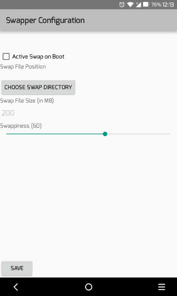speed up android with swap