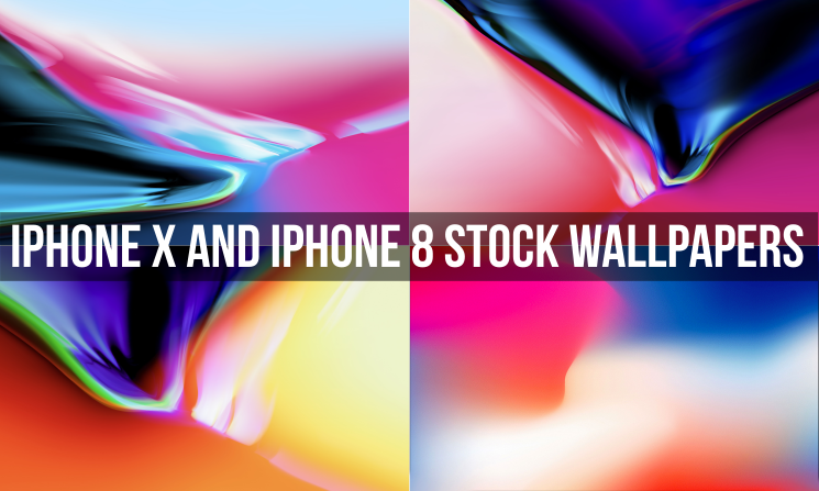 iPhone X and iPhone 8 Stock Wallpapers