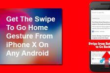 Swipe to Go Home Gesture