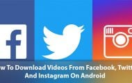 Download Videos from Instagram, Facebook and Twitter on Android
