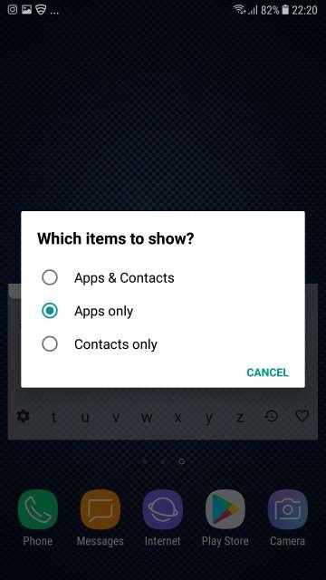 app search preferences