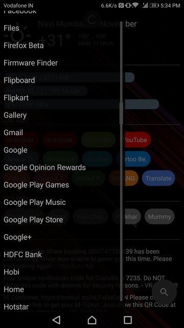 AIO Launcher app shortcuts 2