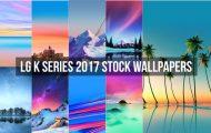 LG K Series 2017 Stock Wallpapers