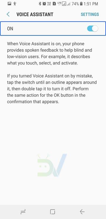 Turn Off TalkBack on Android