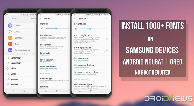 Download Samsung Fonts APK | Install 1000+ Fonts (No Root)