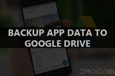 Samsung Galaxy S8 - Automatically Backup App Data to Google Drive