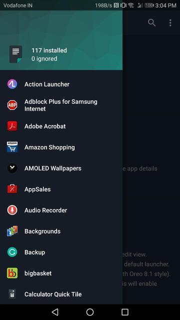 changes app screenshot