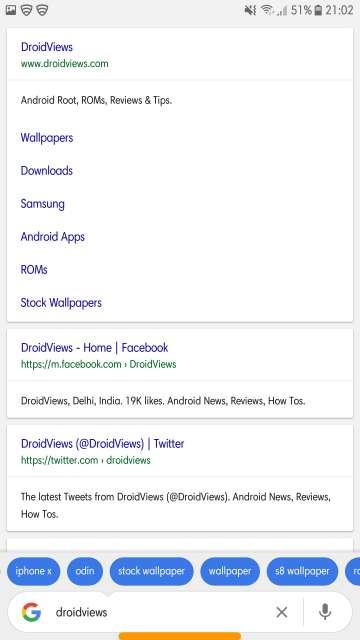 Google Go search page