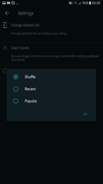 walp app wallpaper shuffle