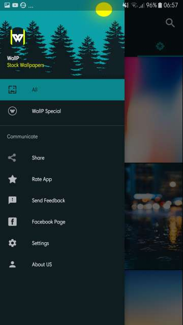walp app android settings