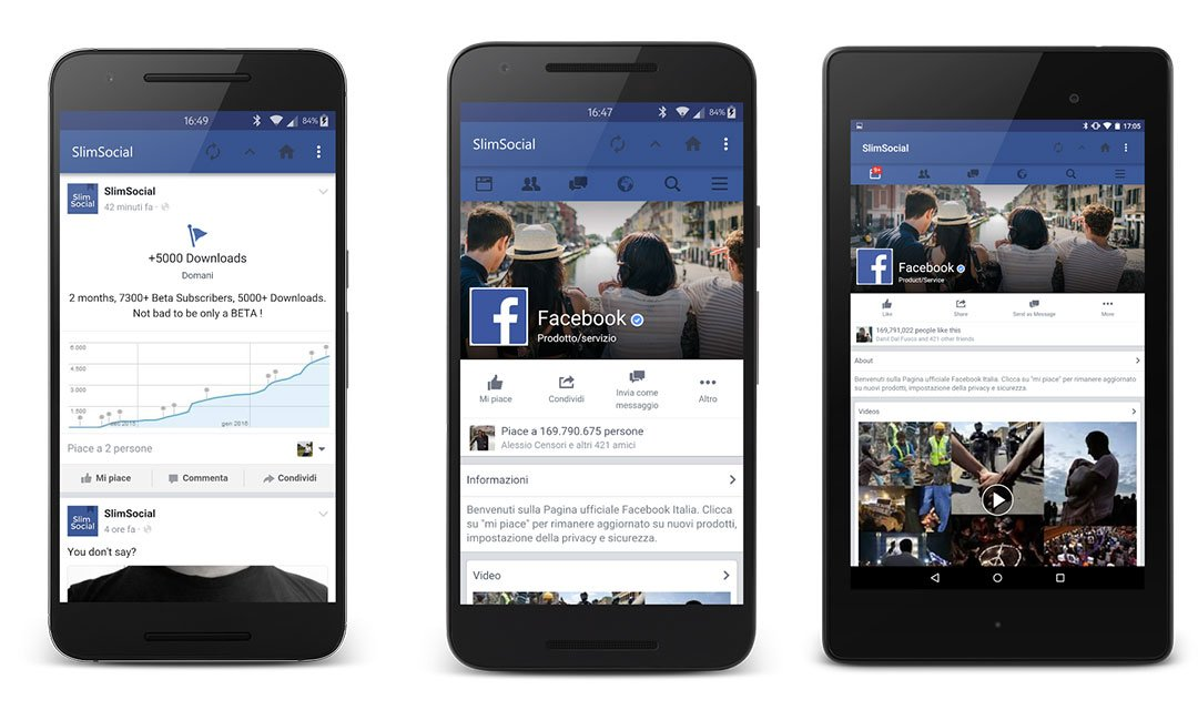 2. SlimSocial for Facebook