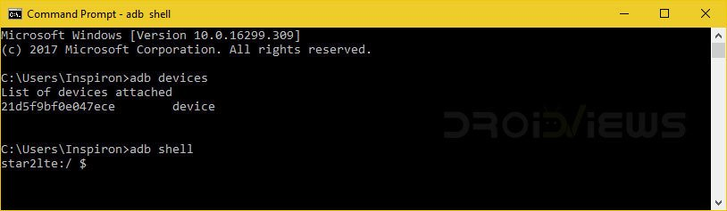 adb shell app uninstall command