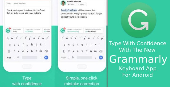 Image result for Grammarly Keyboard — Type with confidence