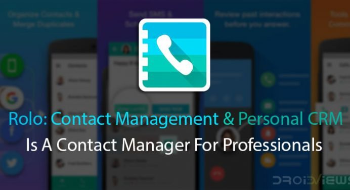 Rolo is a contact manager for professionals