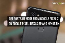 Pixel 2's Portrait Mode
