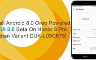 Android 8.0 Oreo-Based EMUI 8.0 Beta on Honor 8 Pro