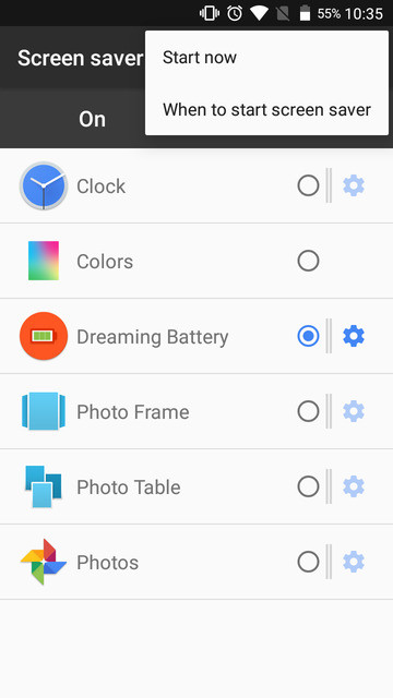 Dreaming Battery Lets You Quickly Peek At Your Device's Battery Level