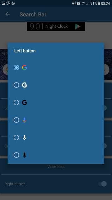 Pixel 2 XL pill widget
