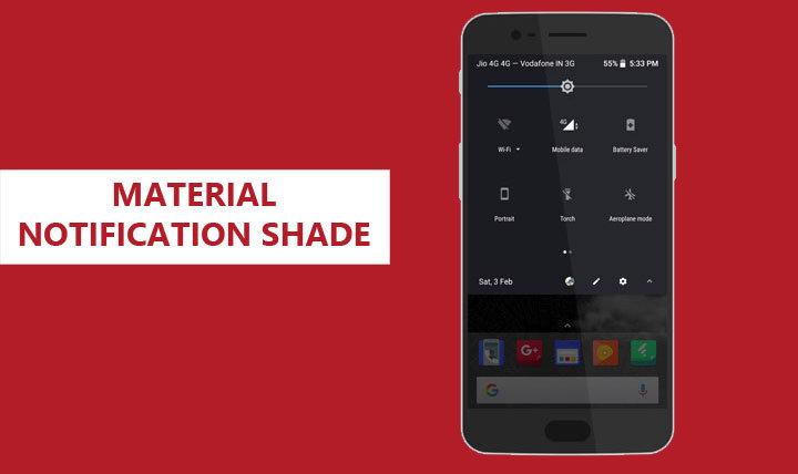 Android Oreo Notification Shade
