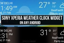 Sony Xperia Weather Clock Widget on Any Android