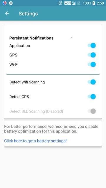 Toggle Track settings