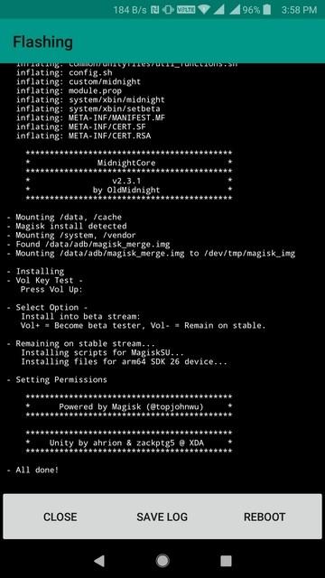 MidnightCore Module installed