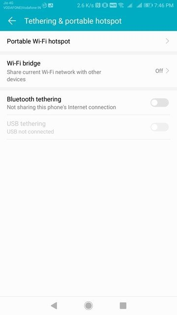 How To Enable WiFi Bridge On Honor 8 Pro And/Or Huawei Mate 9