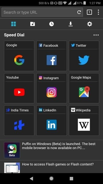 5 Android Browsers With Dark Themes/Night Mode