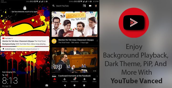 YouTube Vanced APK - Black Theme, PiP and Background Playback