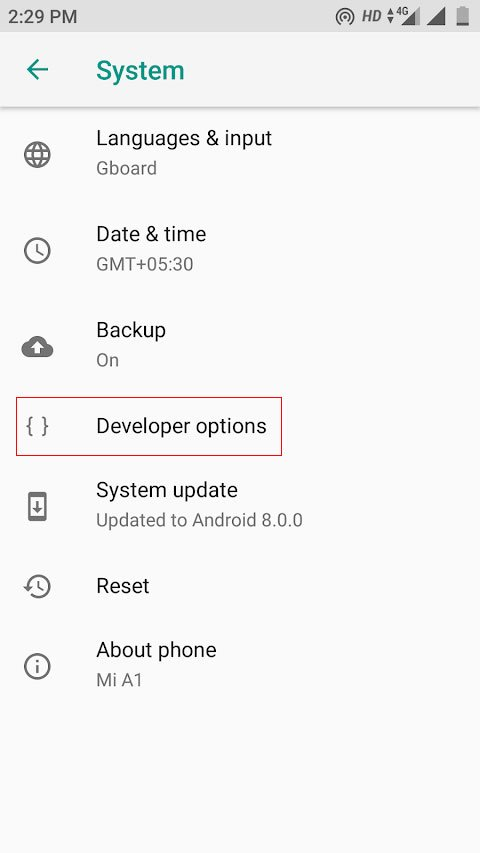 android p settings