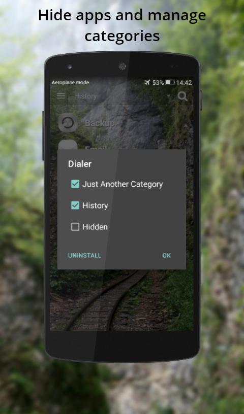 Emerald Launcher app categories