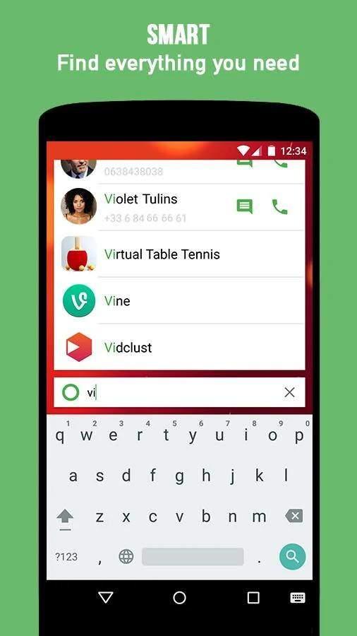 KISS Launcher app search