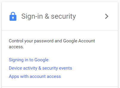 google account sign-in screen
