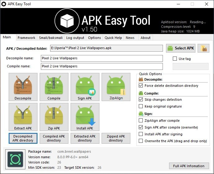 APK Easy Tool - Decompile and Compile APK