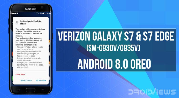 Install Android 8 0 Oreo on Verizon Galaxy S7 & S7 Edge (SM