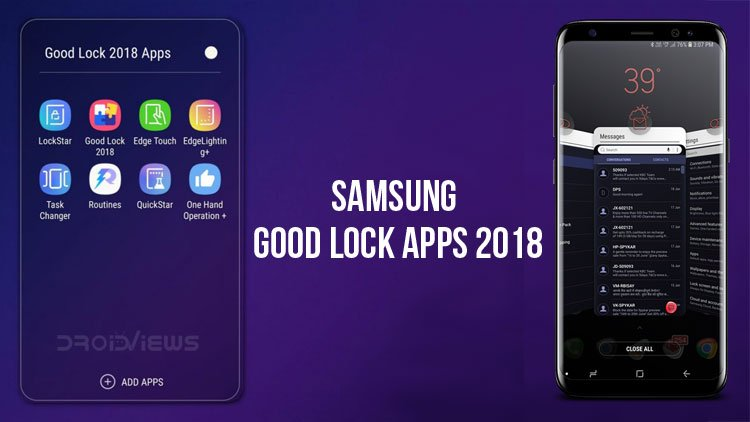 Samsung Good Lock 2018 Apps (APK): Try Android P 9 0 Features