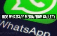 Hide WhatsApp Media from Gallery