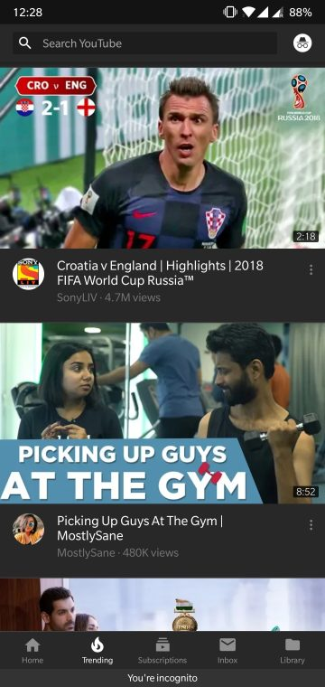 Watch YouTube in Incognito Mode on Android