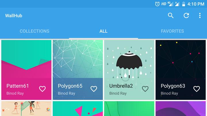 Wallhub wallpaper app
