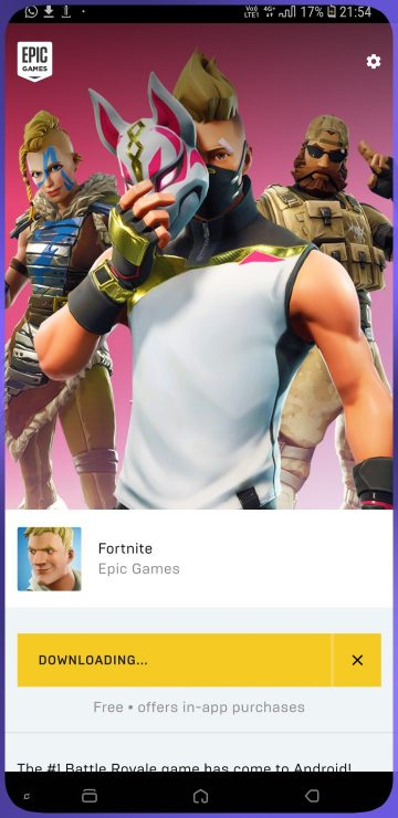 Fortnite Android preview