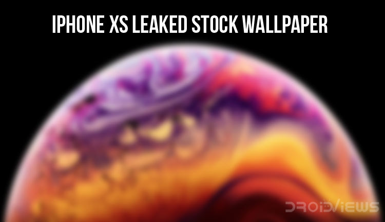 iPhone XS Leaked Stock Wallpaper