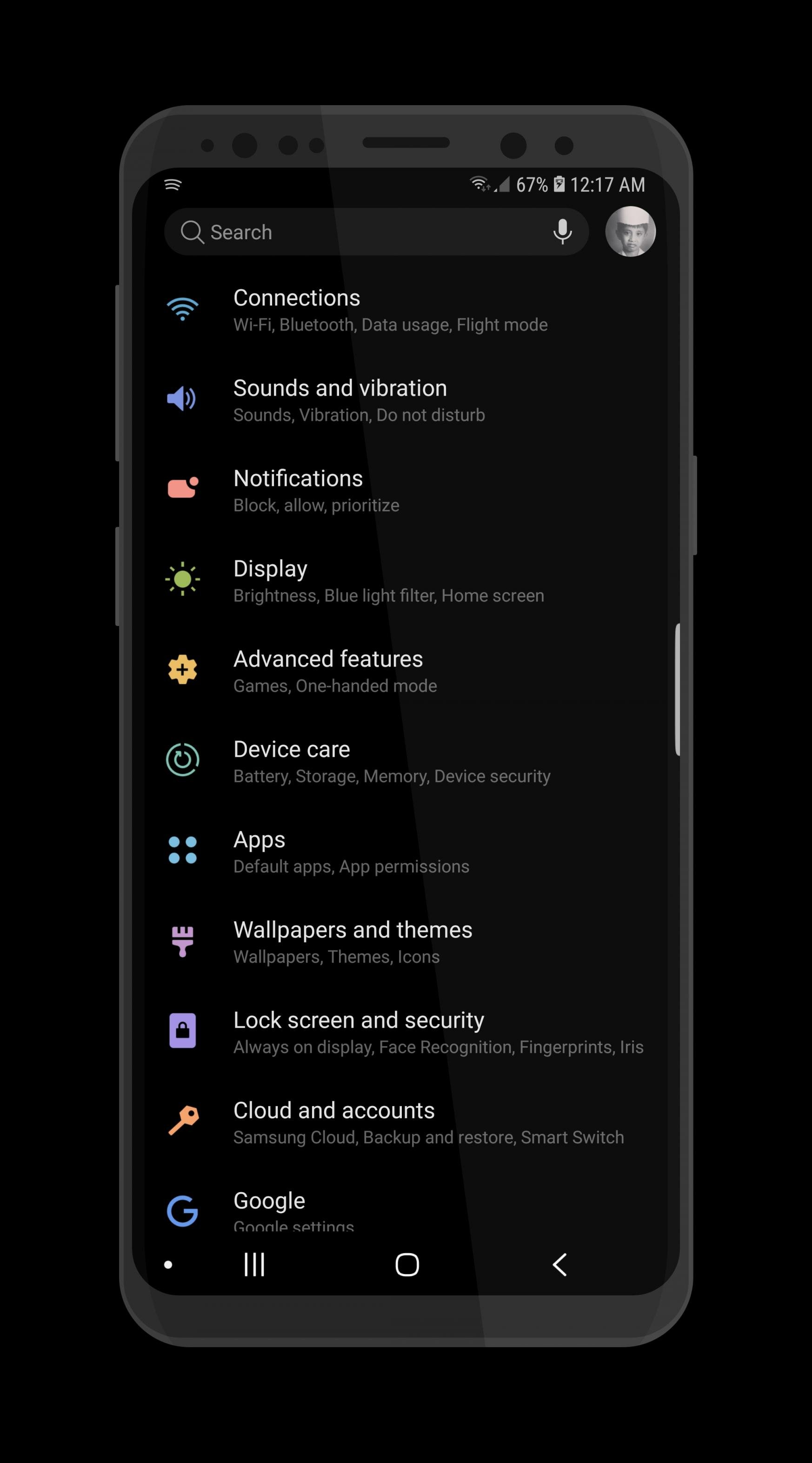 Install Samsung Experience 10 Night Theme on Galaxy S9, S8 & Note 9
